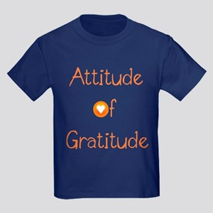 Attitude of Gratitude Kids Dark T-Shirt